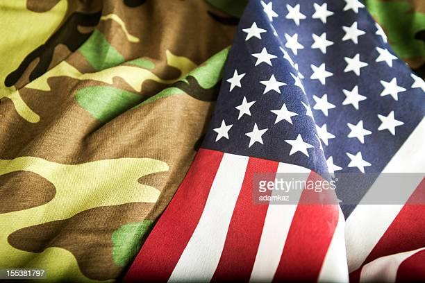 Bandiera americana e Camoflage
