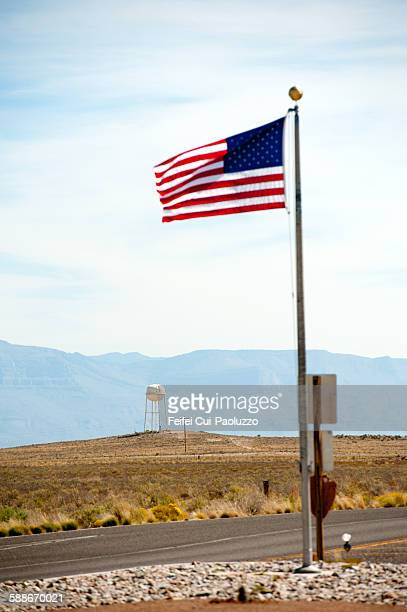 American flag at White Sands
