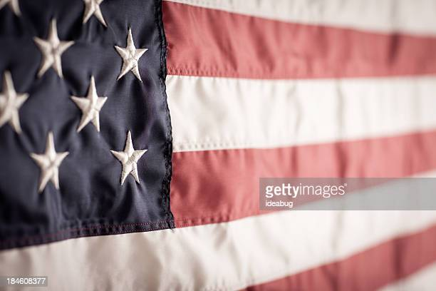 American Flag Background with Vintage Feel