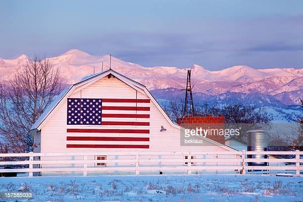 Bandiera americana Barn