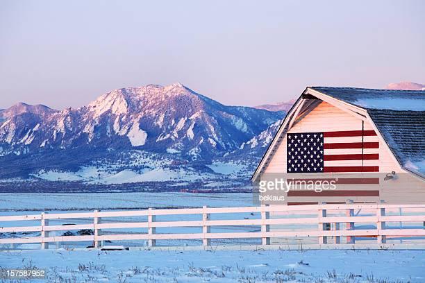 アメリカ国旗バーン