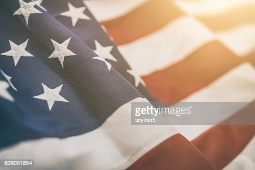 American flag for Memorial Day, 4th of July, Labour Day : Stock Photo
