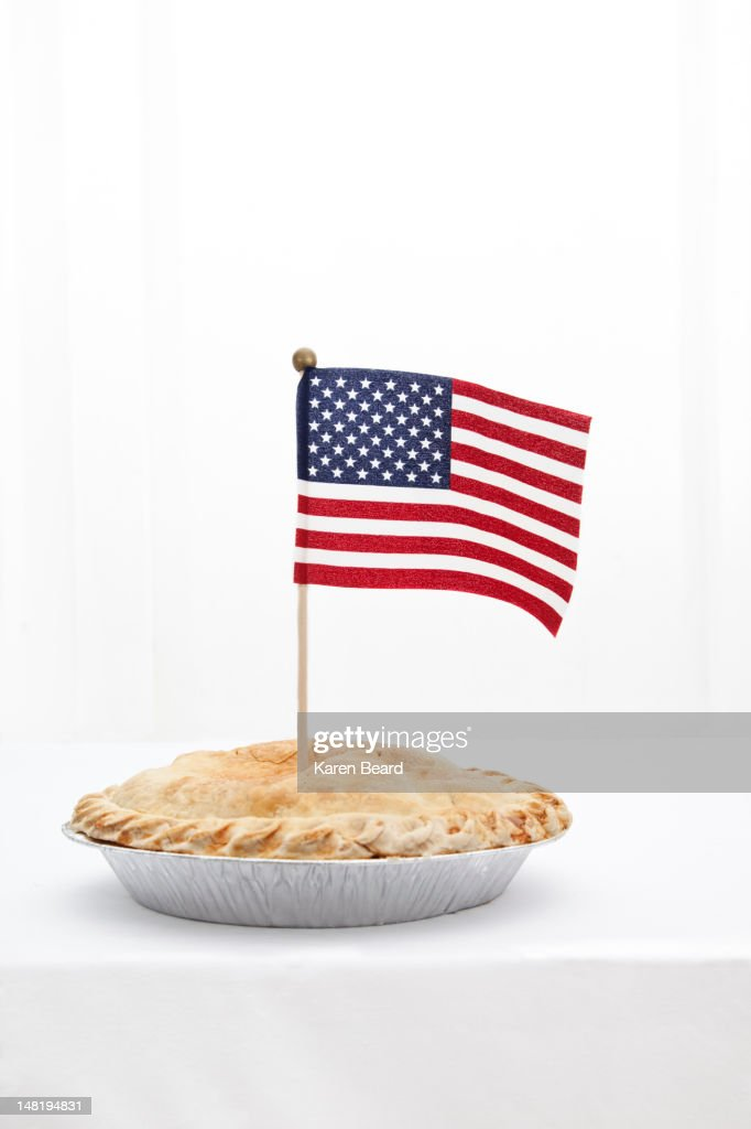 American flag in pie : Stock Photo