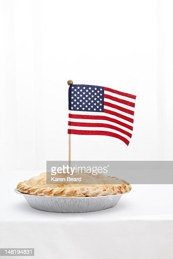 American flag in pie
