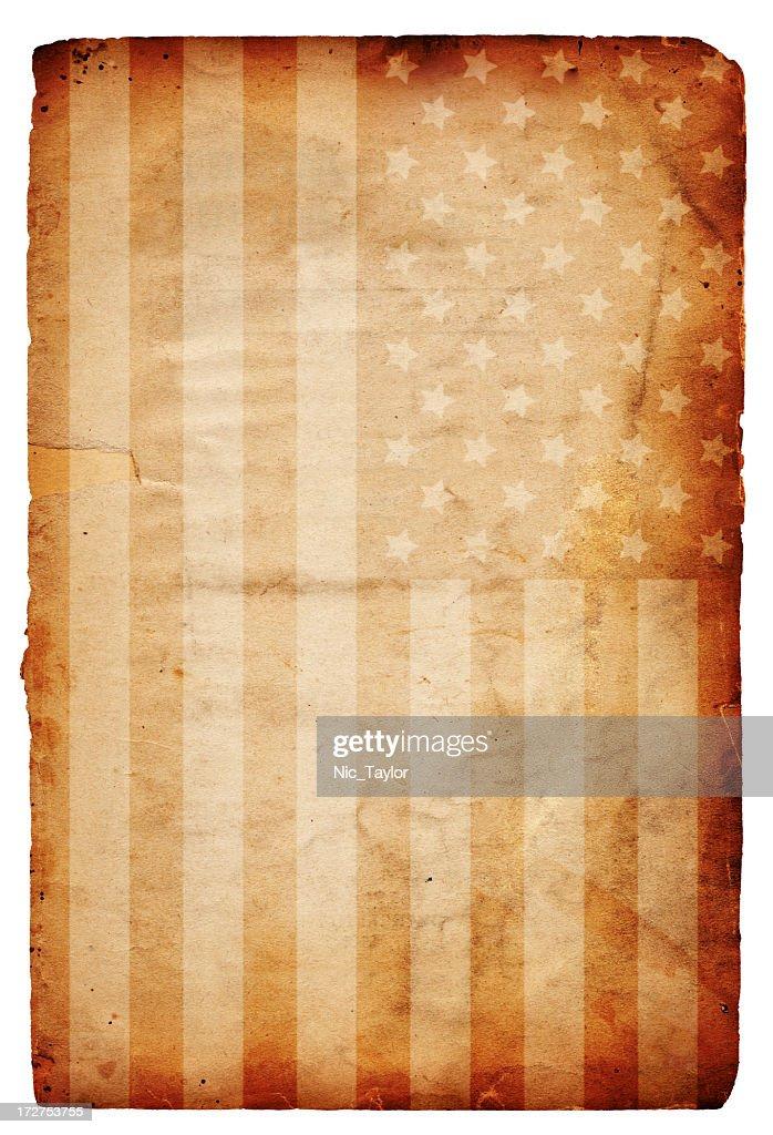 American Flag on Paper XXXL : Stock Photo