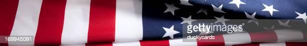 USA American Flag Panoramic Border