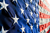 Close up of stars and stripes.