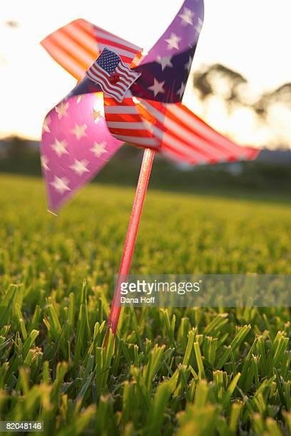 American flag pinwheel