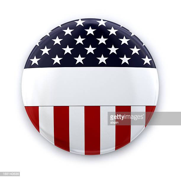 American flag round button template