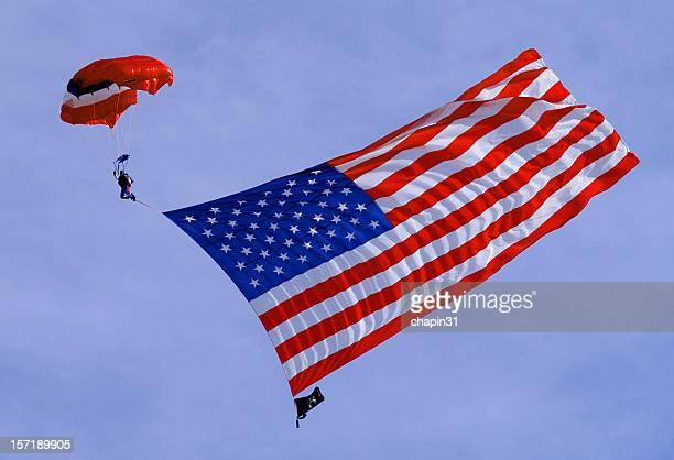 American Flag Sky Diving