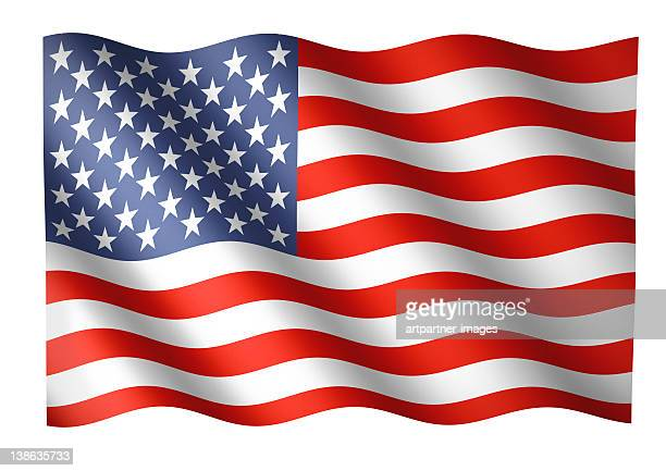 American flag waving or National Flag of the USA