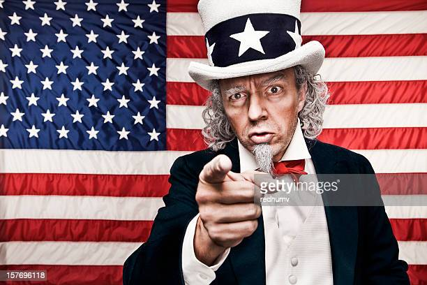 American Flag with Uncle Sam pointing at you