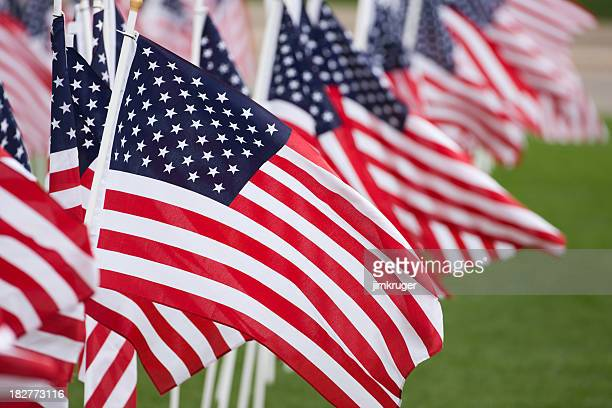 American flags fill the frame.