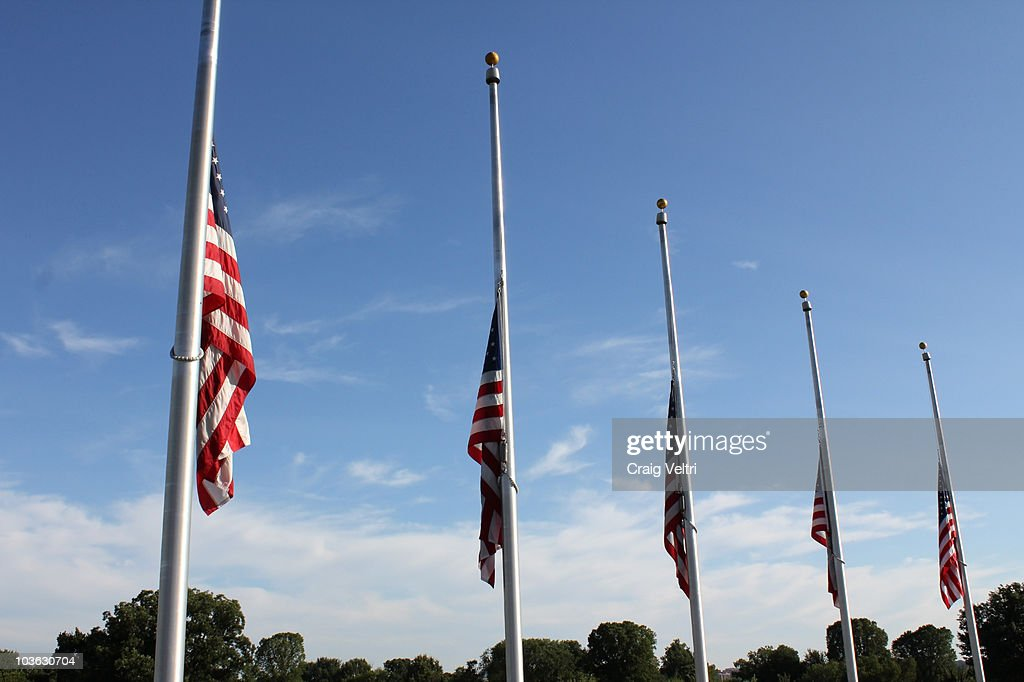 American Flags Half Staff