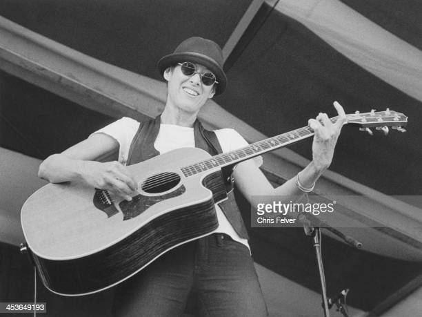 American folk musuician Michelle Shocked performs on stage New Orleans Louisiana 2011