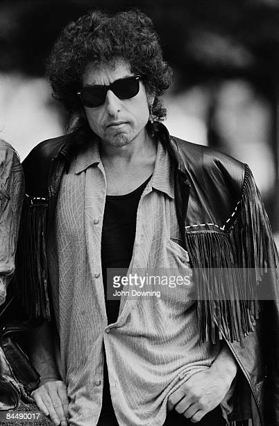 American folkrock singersongwriter Bob Dylan outside the National Film Theatre in London where his film 'Hearts Of Fire' is showing 20th August 1986