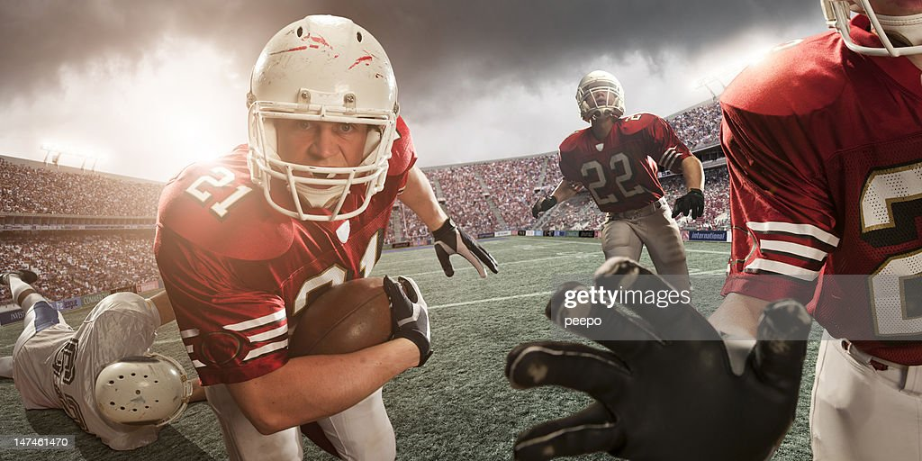 american football action : Stock Photo