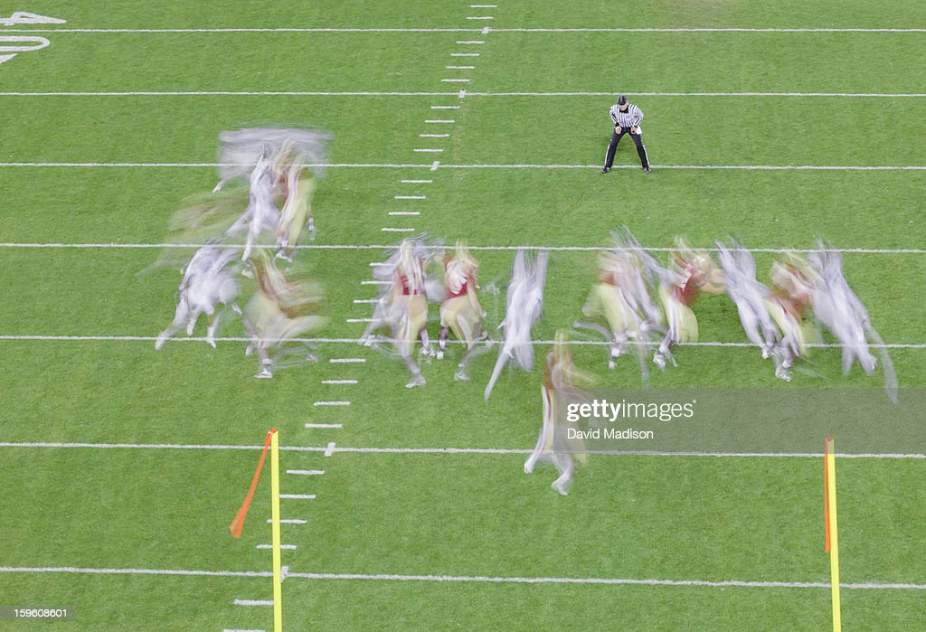 American football action. : Stock Photo