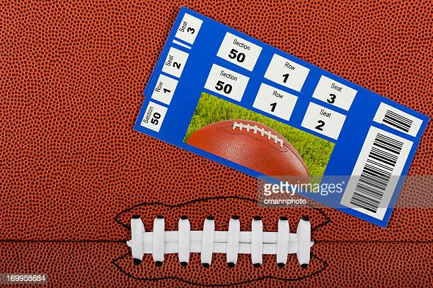 American Football Background with Tickets