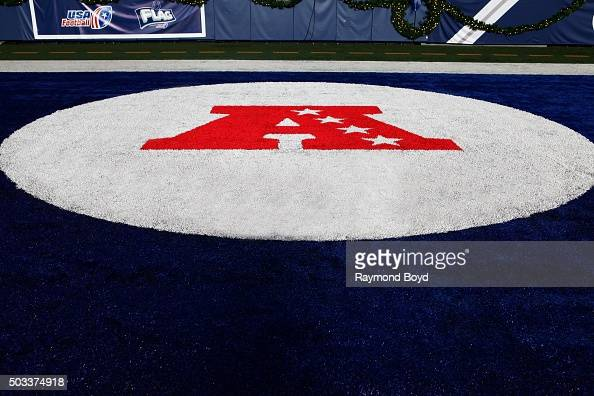 American Football Conference logo at Lucas Oil Stadium home of the Indianapolis Colts football team on December 22 2015 in Indianapolis Indiana