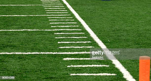 American Football Field at Football Game