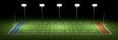 American football field at night