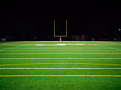 American football field at night