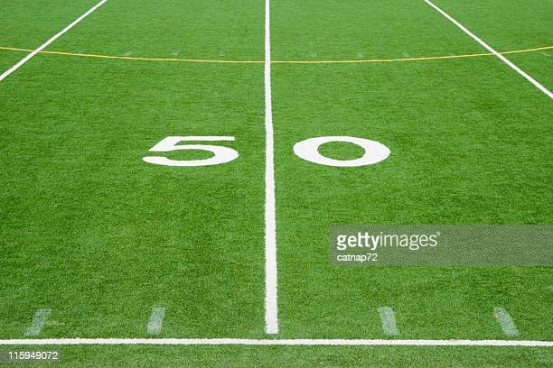 American Football Field Fifty Yard Line, Number 50