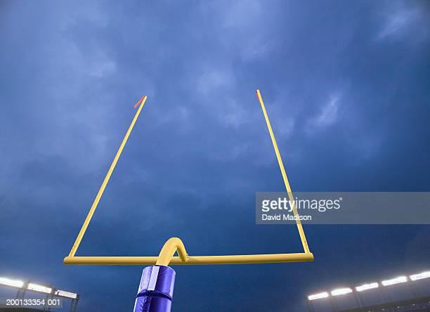 American football goalpost, night (Digital Composite)