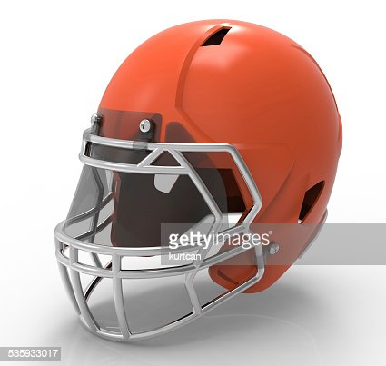 American football helmet isolated on a white background : Stock Photo