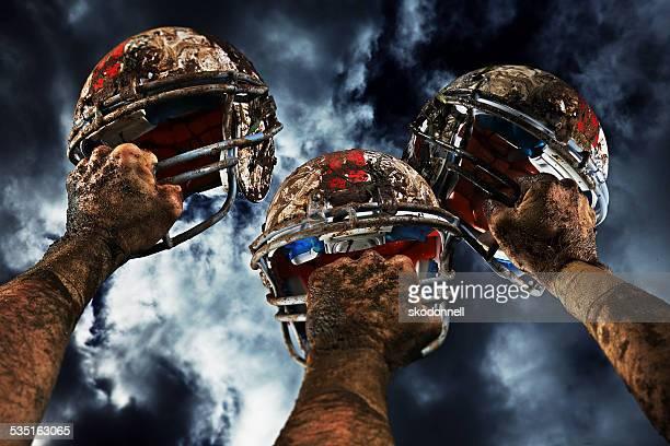 Casco da Football americano su una vera giornata