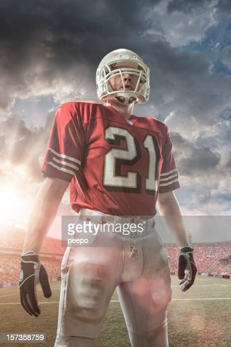 american football player : Stock Photo