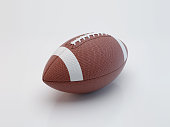 American football isolated on white background with clipping path. Super bowl. 3d render illustration