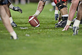 American football line of scrimmage.