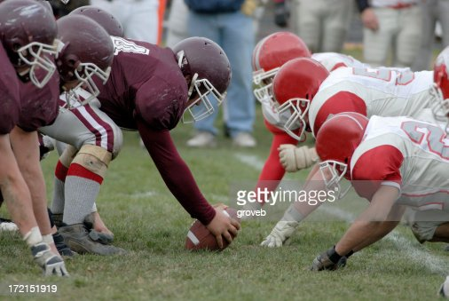 American football line of scrimmage