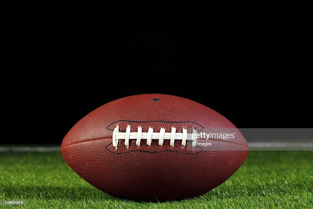 American football on grass : Stock Photo