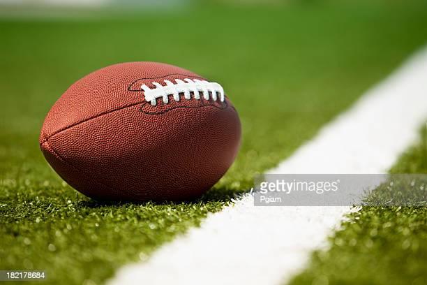 American football on the turf