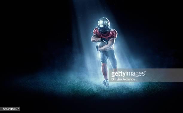 football américain en feu des projecteurs