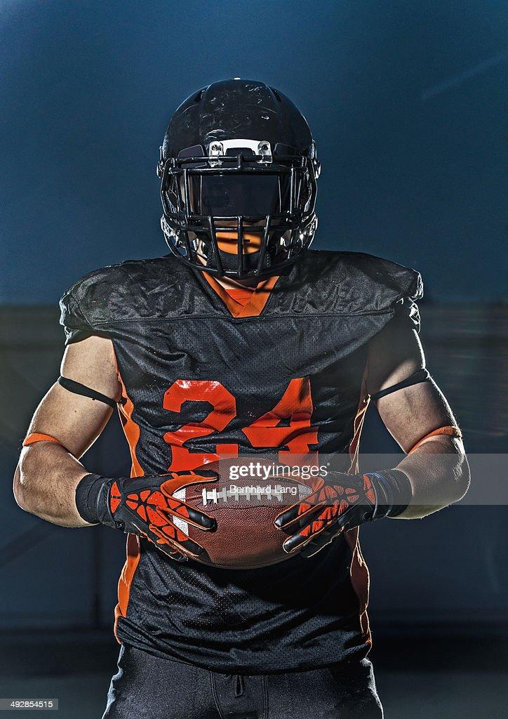 American football player, portrait