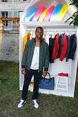 American Football Player Victor Cruz attends the Berluti Menswear Spring/Summer 2017 show as part of Paris Fashion Week on June 24 2016 in Paris...
