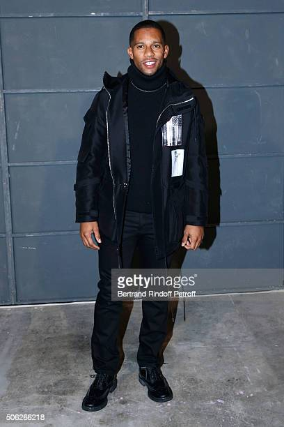 American Football Player Victor Cruz attends the Givenchy Menswear Fall/Winter 20162017 show as part of Paris Fashion Week on January 22 2016 in...