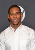 American Football player Victor Cruz attends Time Warner Cable Studios Presents SHOWTIME And Food Network's Ultimate Tailgate Experience at Highline...
