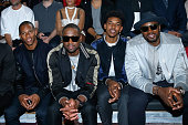 American Football Player Victor Cruz Basketball players Dwyane Wade Nick Young and Serge Ibaka attend the Lanvin Menswear Spring/Summer 2017 show as...