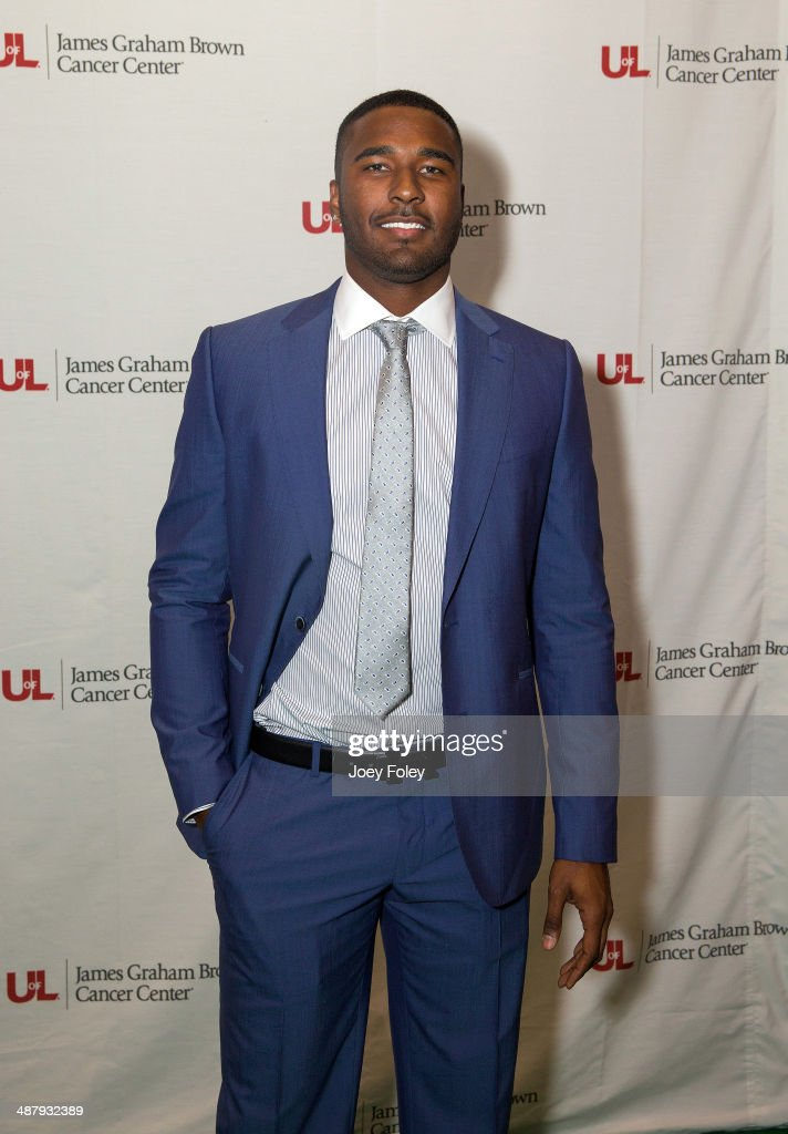 American football quarterback for the Buffalo Bills of the National Football League, E. J. Manuel attends the 2014 Julep Ball at KFC YUM! Center on May 2, 2014 in Louisville, Kentucky.