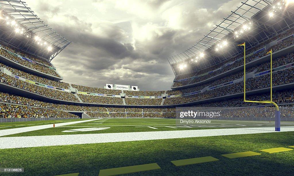 American football stadium 3d