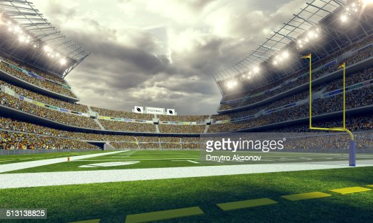 American Football Stadium 3d render
