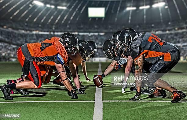 American football teams head to head in stadium
