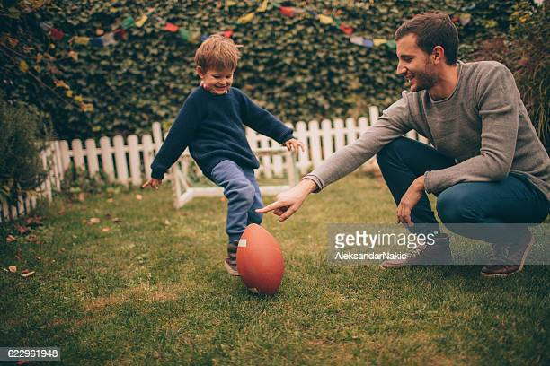 American football with my dad