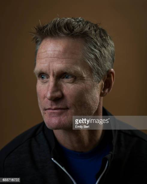 American former professional basketball player and the current head coach of the Golden State Warriors Steve Kerr is photographed for New York Times...