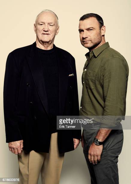 American former professional boxer Chuck Wepner and actor Liev Schreiber from 'Chuck' poses at the 2017 Tribeca Film Festival portrait studio on...